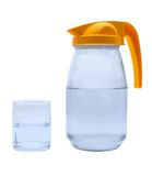 Jug, glass with wate. Jug, glass with water on a white background Royalty Free Stock Photography