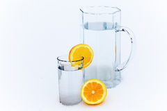 Jug and glass of water Royalty Free Stock Image