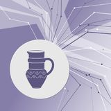 Jug Icon on purple abstract modern background. The lines in all directions. With room for your advertising. Illustration Stock Photography