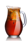 Jug of lemon iced tea Royalty Free Stock Photography