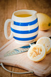 Jug Of Lemon Juice Stock Photos