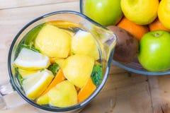 Jug of lemonade Stock Images