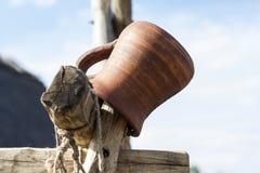 Jug made of clay Stock Image