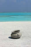 Jug on Maldives beach Royalty Free Stock Photo