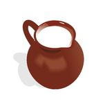 Jug with milk. Illustration of jug with milk. Vector Stock Photos