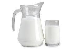 Jug with milk Stock Images