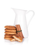 Jug with milk and cookies Stock Photography