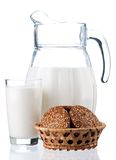 Jug of milk Royalty Free Stock Image