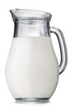Jug of milk isolated Stock Images
