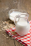 Jug of milk and muesli Stock Images