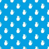 Jug of milk pattern seamless blue Royalty Free Stock Photos