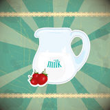 Jug Of Milk On Vintage Background Royalty Free Stock Photography