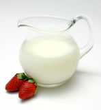 Jug Of Skim Milk Stock Photo