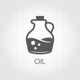 Jug with oil. Food icon in flat style. Vector for various recipes, cookbooks, culinary sites and other projects. Jug with oil. Food icon in flat style. Culinary Stock Photo