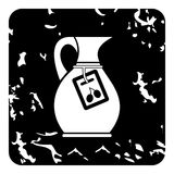 Jug with olive oil icon, grunge style Royalty Free Stock Photo