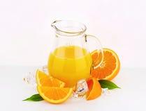 Jug of orange juice Stock Photography