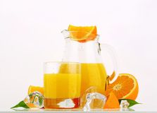 Jug of orange juice Stock Photography