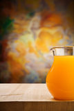 Jug of the oranges juice Royalty Free Stock Photo