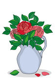 Jug with roses Stock Images