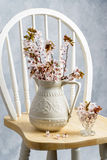 Jug Of Spring Blossom Stock Image