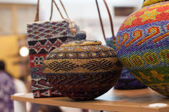 Free Jug Storage And Basket Made Of Clay Decorated With Colorful String Hand Crafted From Traditional Indonesia Culture Royalty Free Stock Photo - 91633395