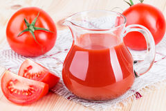 Jug of tomato juice Royalty Free Stock Photography
