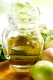 Jug with vegetable oil Stock Image
