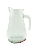 Jug of water or glass carafe with coaster Royalty Free Stock Image