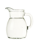 Jug of water. Isolated on white stock photography