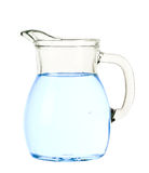 Jug of water. Isolated on white royalty free stock photos