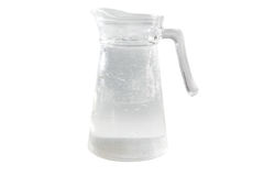 Jug of water stock images