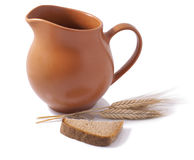 Jug with wheat Royalty Free Stock Photos