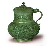 Jug1. Old orient jug on white Royalty Free Stock Image