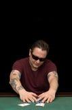 Jugador Aces del póker Fotografía de archivo libre de regalías