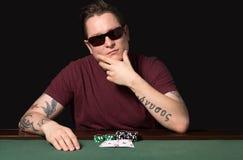 Jugador Aces del póker Imagen de archivo