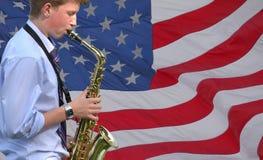 Jugador americano del jazz Imagenes de archivo