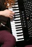 Jugador armónico Foto de archivo libre de regalías
