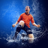 Jugador bajo el agua imagen de archivo libre de regalías