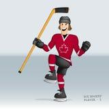 Jugador canadiense del hockey sobre hielo Imágenes de archivo libres de regalías