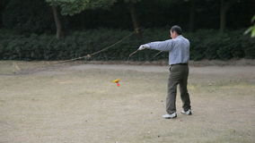 Jugador chino del yoyo almacen de video