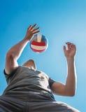 Jugador con la bola Fotografía de archivo