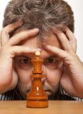 Jugador de ajedrez Foto de archivo libre de regalías