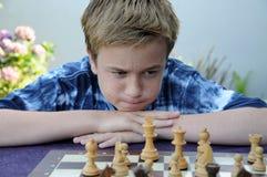 Jugador de ajedrez Fotos de archivo