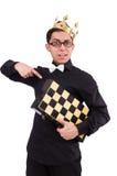 Jugador de ajedrez divertido foto de archivo libre de regalías