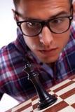 Jugador de ajedrez joven Foto de archivo libre de regalías
