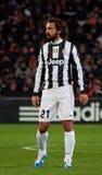 Jugador de Andrea Pirlo de Juventus Foto de archivo