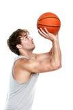 Jugador de básquet Imagen de archivo libre de regalías