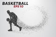 Jugador de básquet de las partículas stock de ilustración