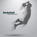 Jugador de básquet de los triángulos ilustración del vector