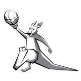 Jugador de básquet 2 del canguro ilustración del vector